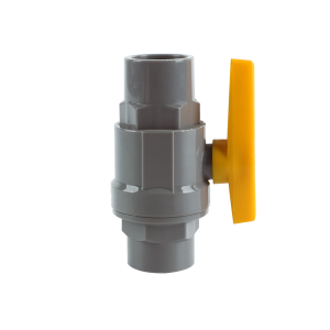 Factory Price Pvc Poly Pipe Fitting - PVC two pieces ball valve with yellow plastic handle – Pntek