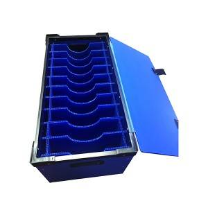 pp corrugated turnover box with frame