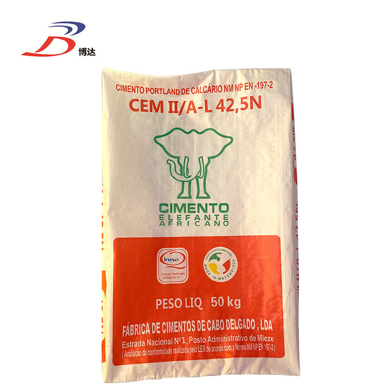50kg mineral industrial block bottom pp woven bag