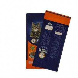 L-9KG matte film laminated cat food bag supply into animal feed industry