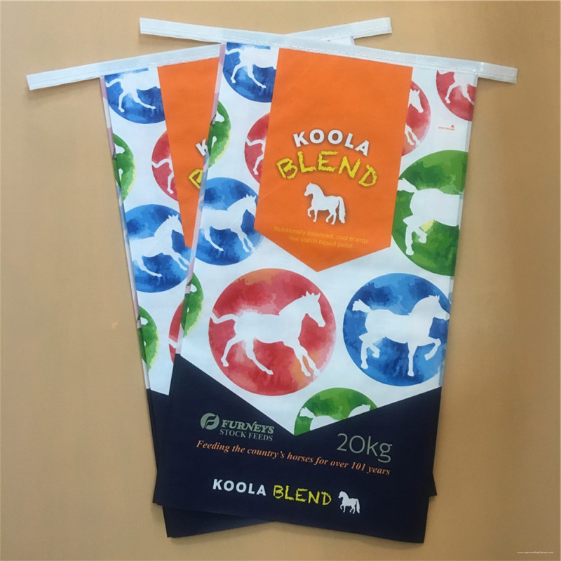 PP woven horse food bag with eazy open