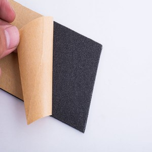 foam with adhesive with paper or film backing