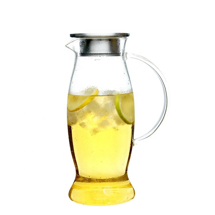 1.5L high borosilicate glass cold water pots whit handle