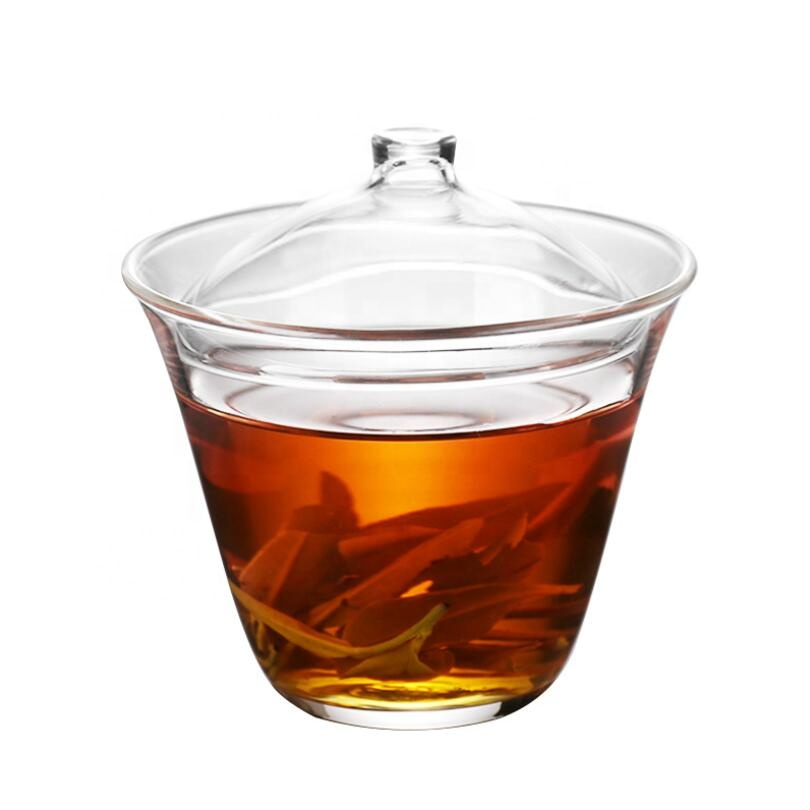high borosilicate personalized glass Heat resistant glass tea bowl