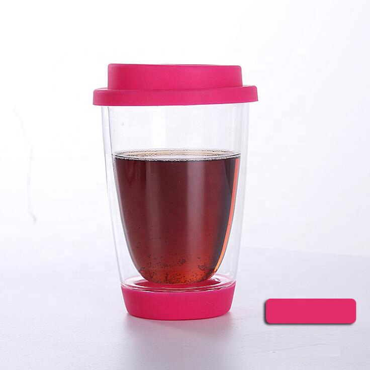 2020 New Designed China Factory Hand Blown BPA Free Borosilicate Glass Double Wall Pyrex Glass Coffee Cup
