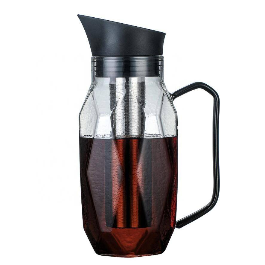 High borosilicate glass heat-resistant coffee maker High capacity glass carafe 1.0L coffee cold brew maker bottle china Featured Image