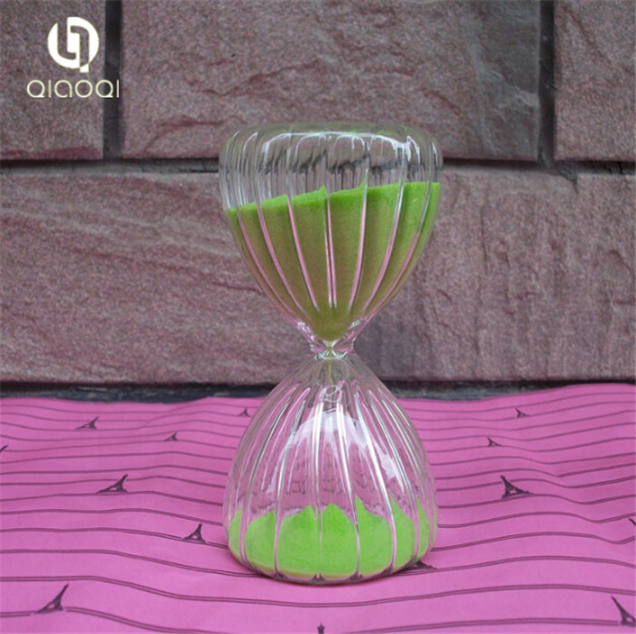 Stripe 15 minutes timer glass hourglass