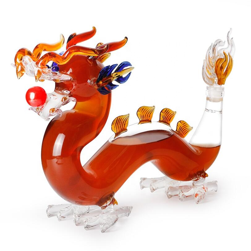 2019 new arrival Dragon shape glass wine bottle Featured Image