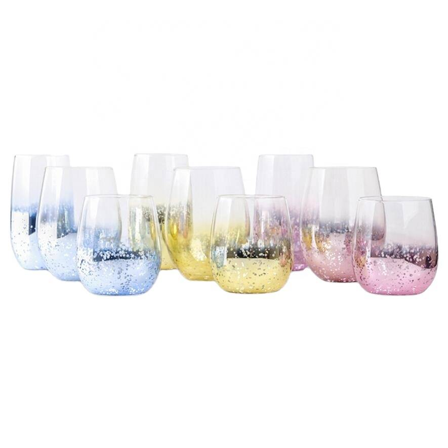 High borosilicate clear glass cup new style drinking cheap single wall glass cup