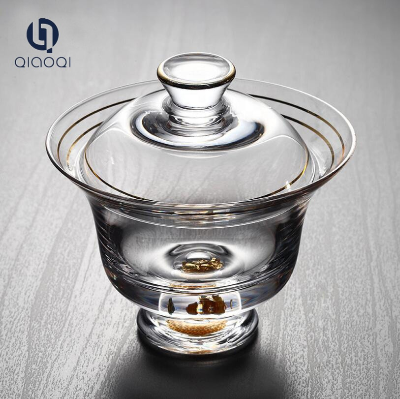 150ML Hot sales handmade  glass tea  cup with  lid set