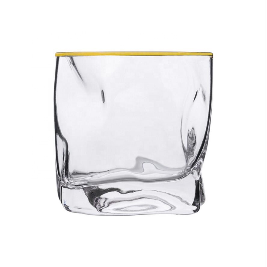 Premium Whiskey Glasses Lead Free Hand Blown whiskey glass cup Crystal Thick Weighted Bottom whiskey cup for sale