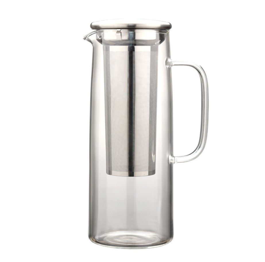 Factory trade assurance unique design brewing stainless steel filter glass cold brew coffee maker