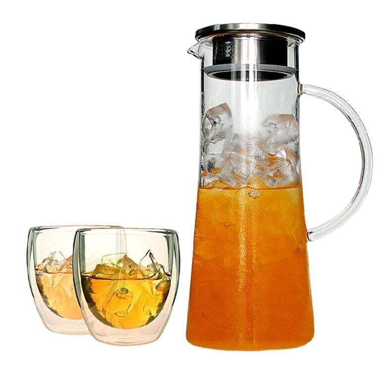 wholesale glass water pot new style drinking cold water pot set