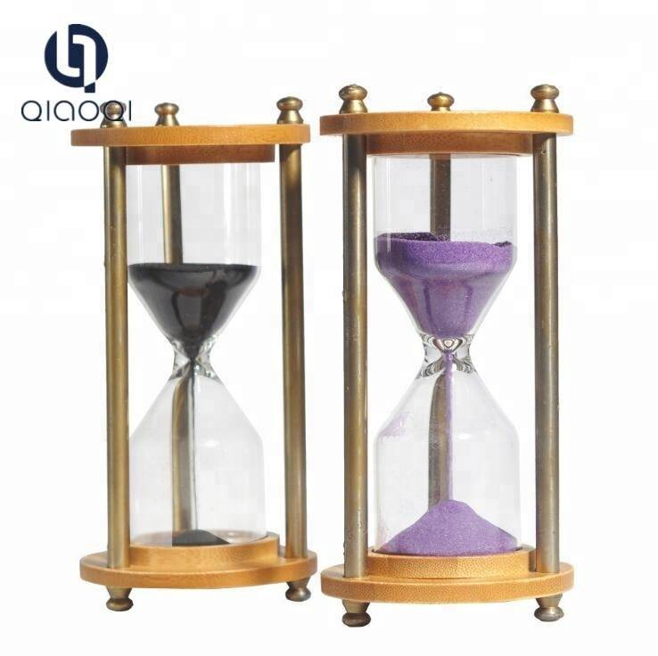 Handmade Craft Glass Gift  DIY Glass Metal Hourglass Sand Timer Sand Clock
