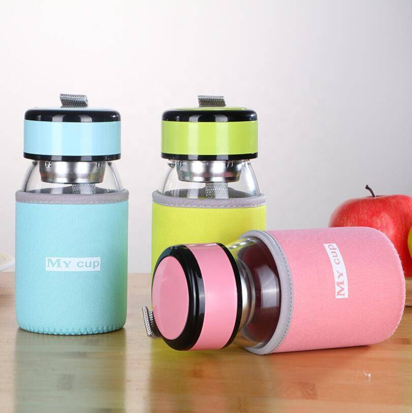 Custom Hot Sale Promotional Premium Fashionable Empty 300ml gym Glass Drinking Water Bottle Borosilicate Glass For Kids