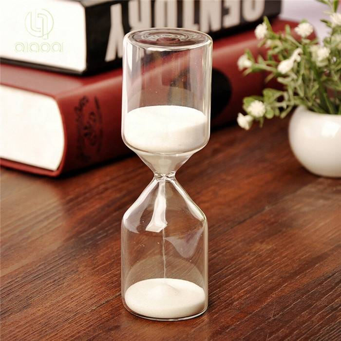 High borosilicate craft gift desktop hourglass sand timer sand clock