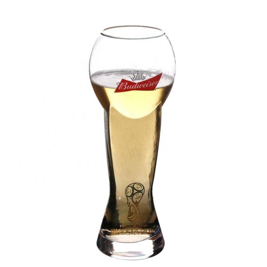 Wholesale high borosilicate new style large capacity beer mugs glass beer cup