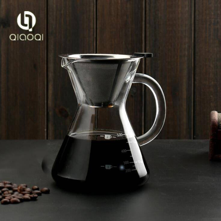 500ml FDA food grade hand made glass coffee maker