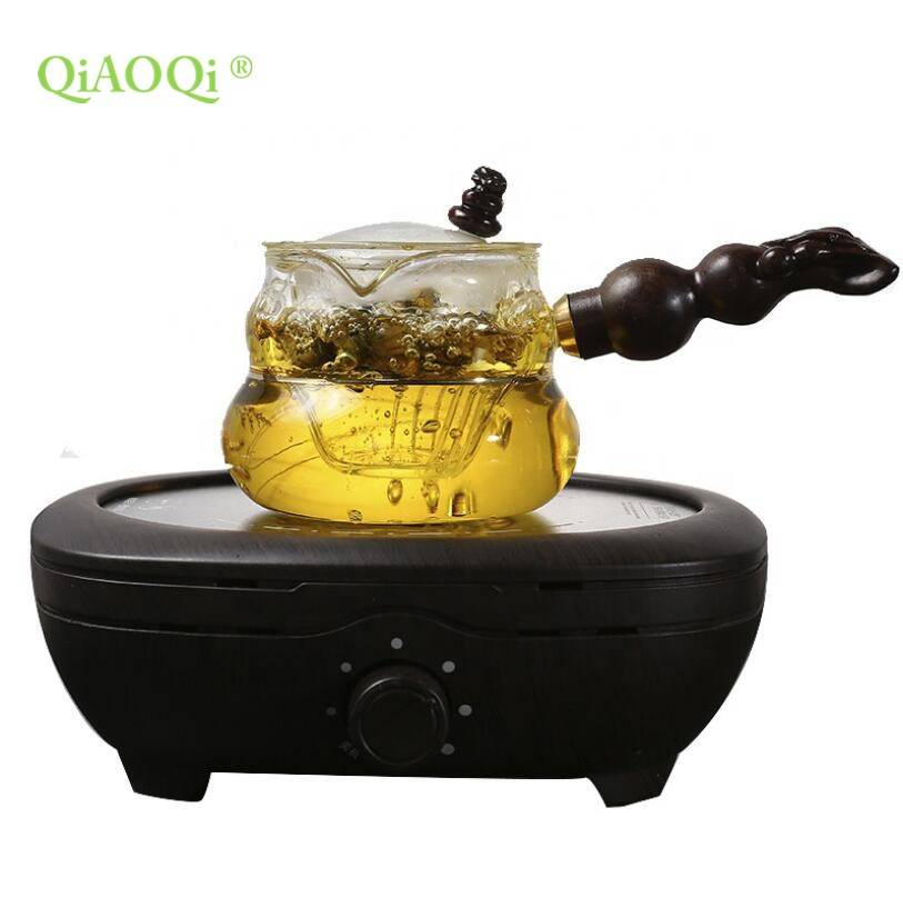 High Borosilicate Glass Cooking Pot with Side Handle