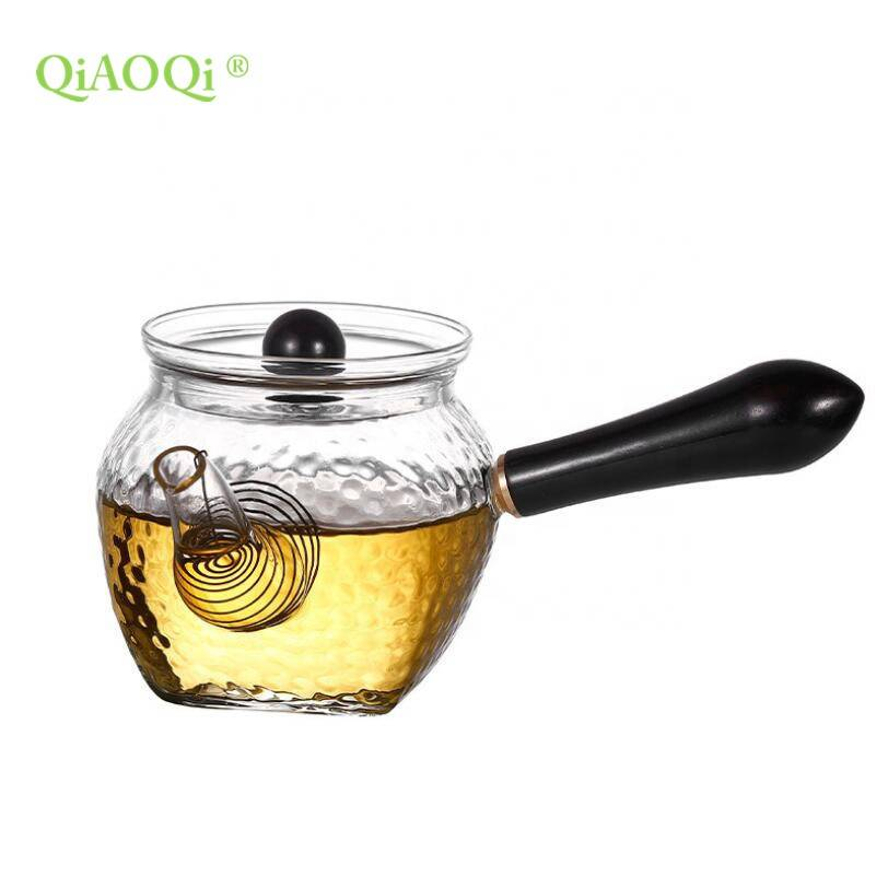 Wholesale 210ml 7oz heat resistant glass tea pot tea maker manufacturer