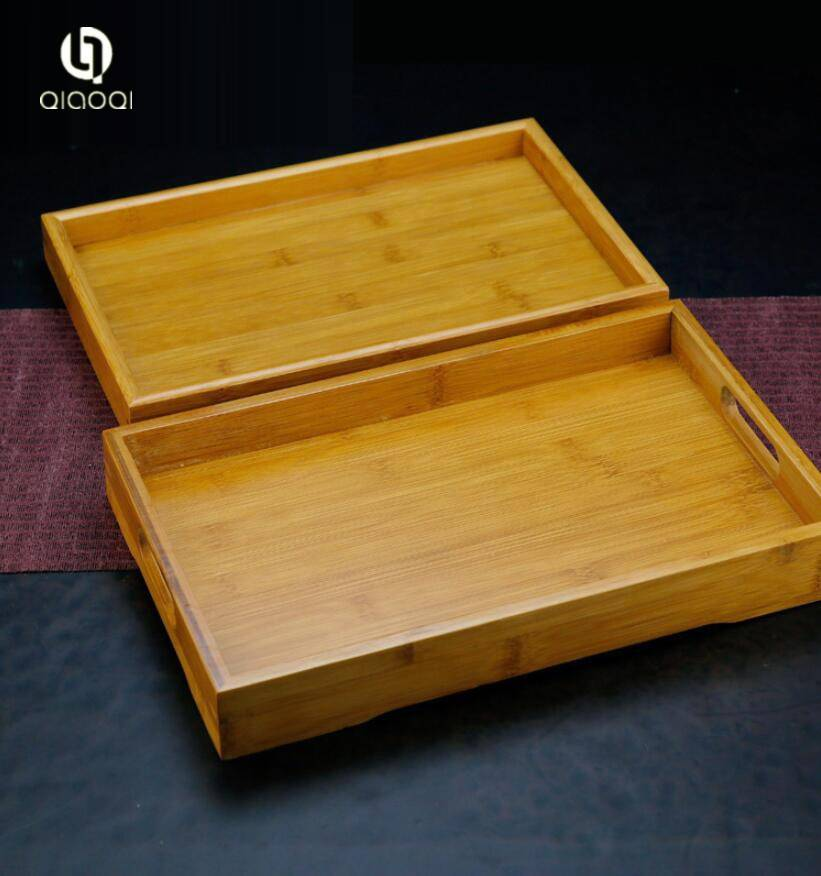 Small Tea Serving Tray Home Bamboo Tea Set