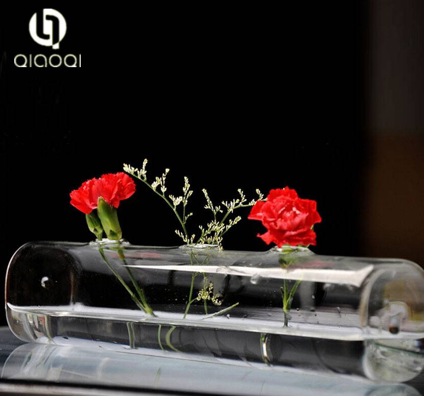 Clear Cylinder tube Glass flower Vase