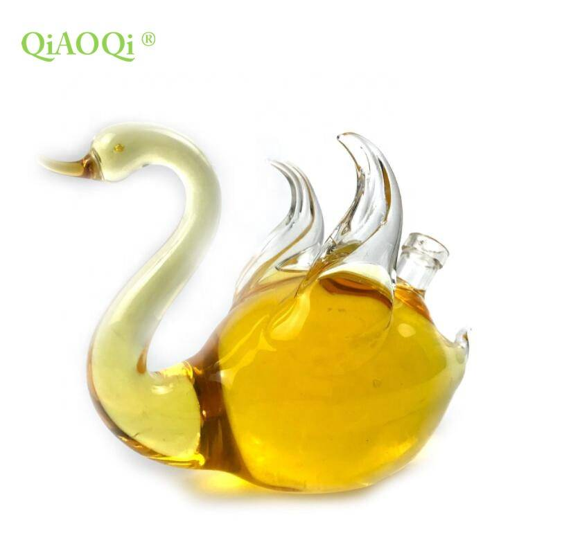 QiAOQi Animal shaped swan bottle high borosilicate custom glass bottle