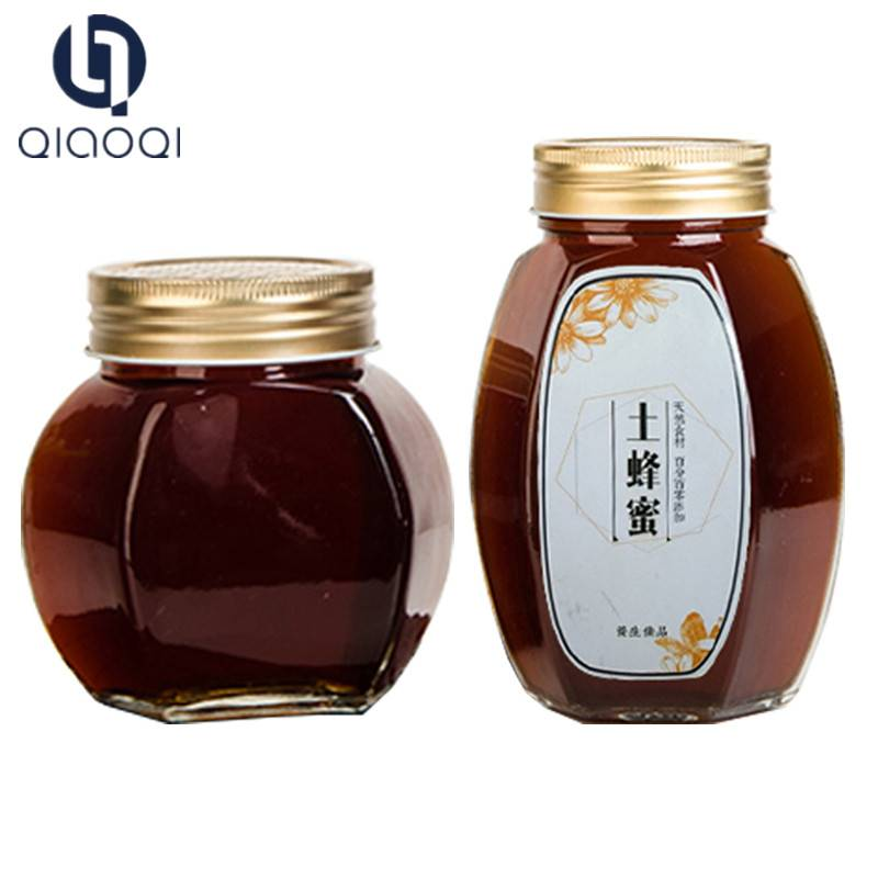 Wholesale Cheap Home Kitchen Sealed Airtight  Glass Honey Jars Bottles