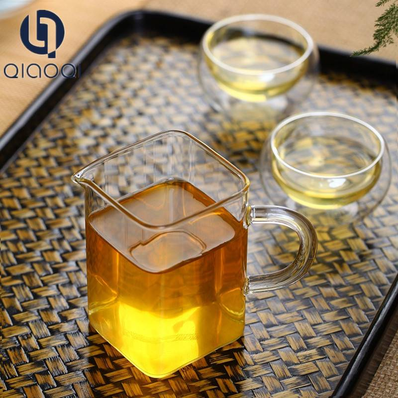 Square Quality Thick Glass Fair Cup