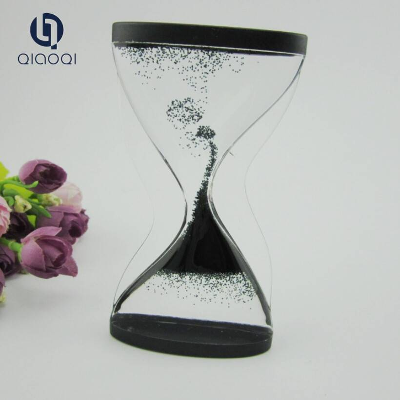 Direct Factory Price Cute Promotion acrylic liquid oil hourglass timer