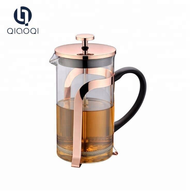 Customized coffee french press with stainless steel filter