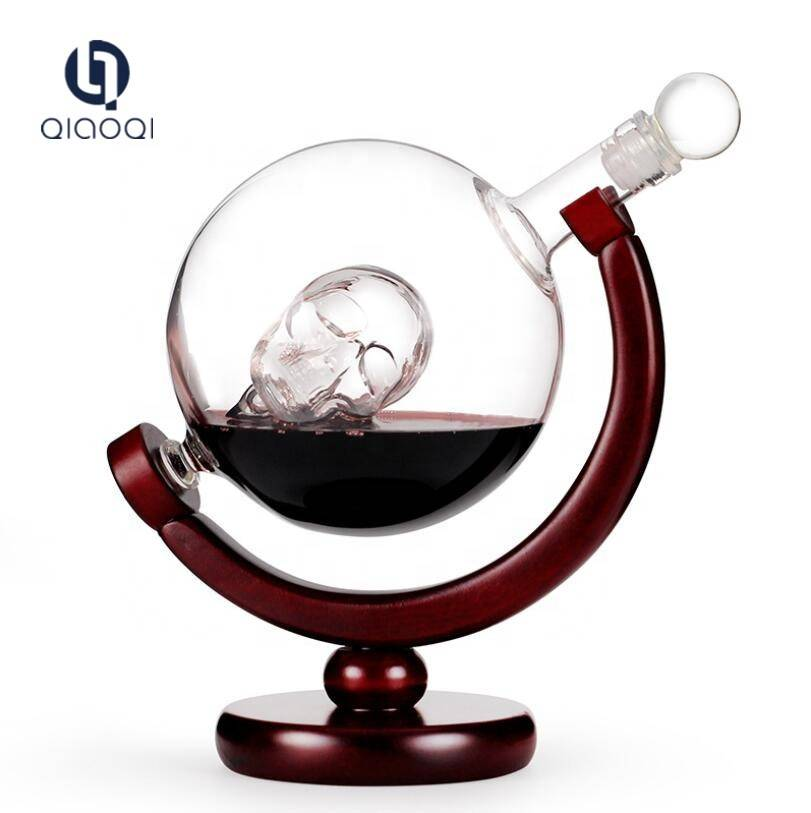 Ordinary Discount 1 Minute Sand Timer - wholesale Glass skull shape in globe craft wine bottle – Qiaoqi