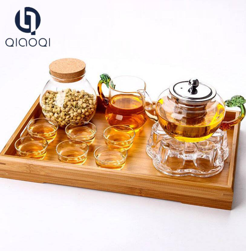 China wholesale Product Sale Promotional Custom 84mm diameter glass teapot set