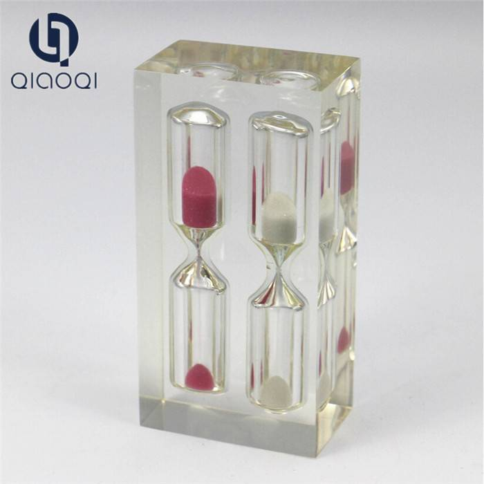Souvenir Gifts Decorative Resin 2 in 1 Sand Clock for Sale