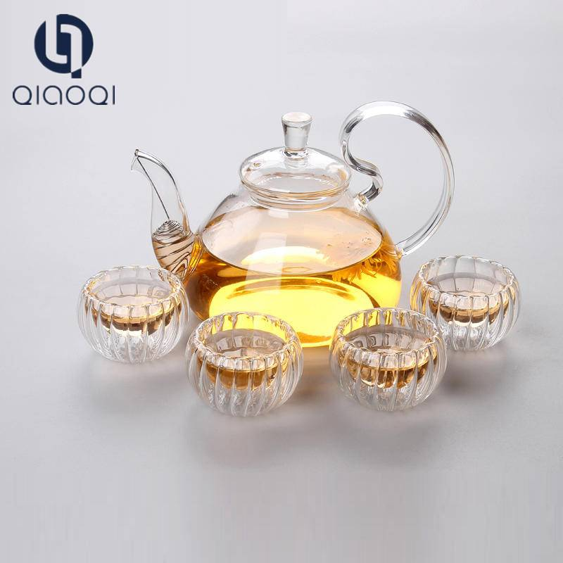 Competitive price China Factory diameter glass teapot set