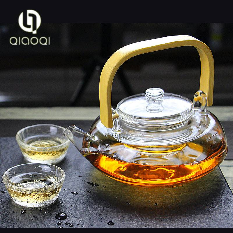 Handblown Hotel korean glass tea pot