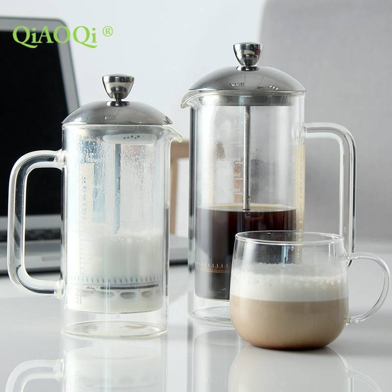 Wholesale Custom Logo 350ml 500ml Double Wall French Press Coffee Maker