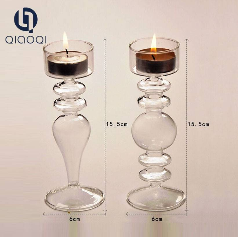 Cheap glass candlestick