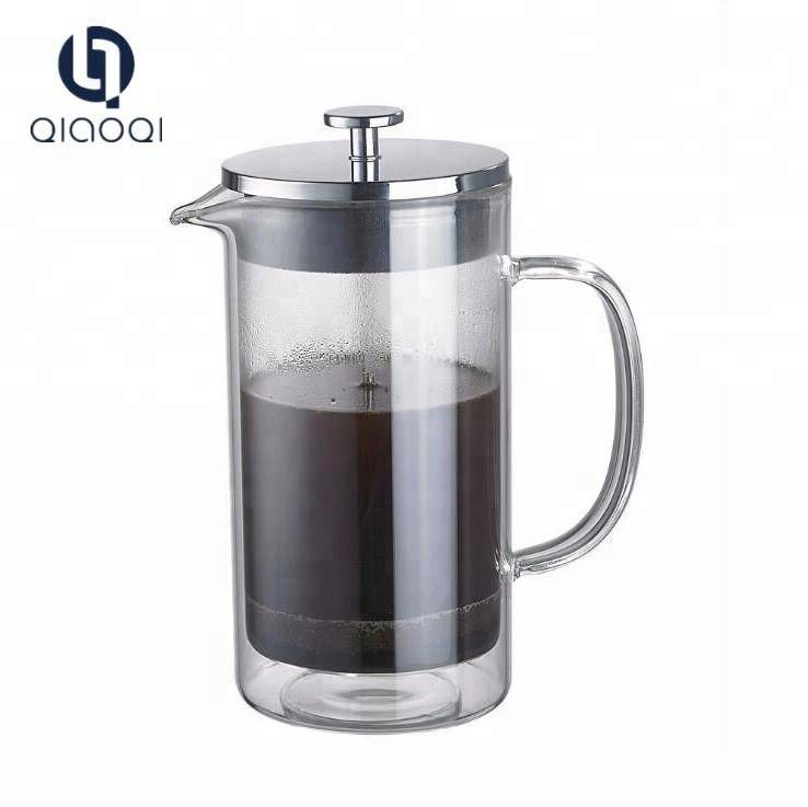 Double Wall Insulated Glass Tea Coffee Maker French Press