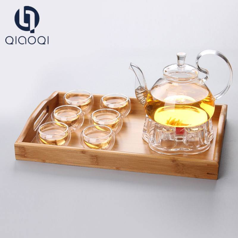 Wholesale Fashion Design Unbreakable glass teapot glass tea set