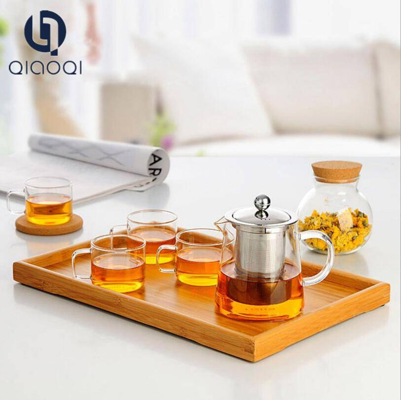 The Most Popular Cheap Price small glass teapot with warm set