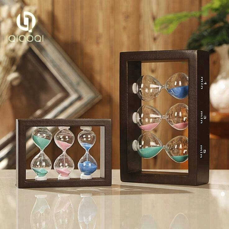 Decorative Cheap Wholesale Wood Frame 1 3 5 minutes Hourglass sand timer