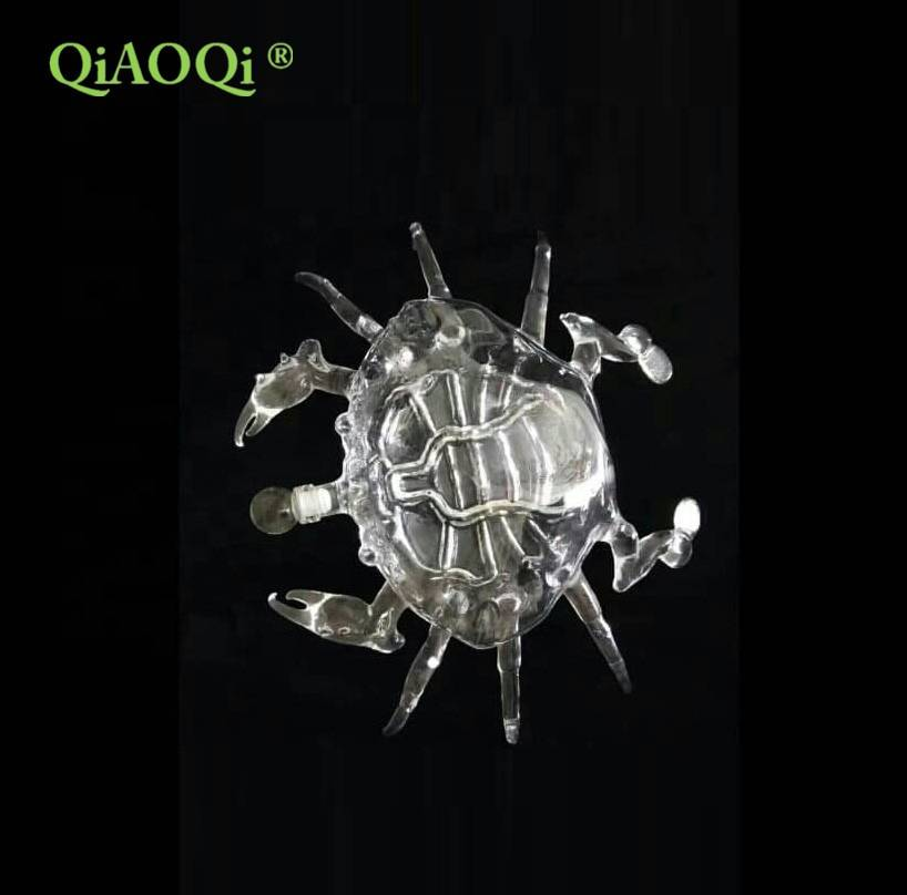 QiAOQi 500ml crab shape glass bottle for wine
