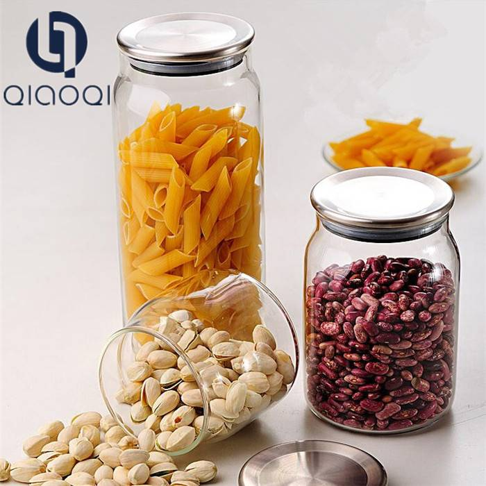 sealing metal lid daily seal storage glass jars with lid