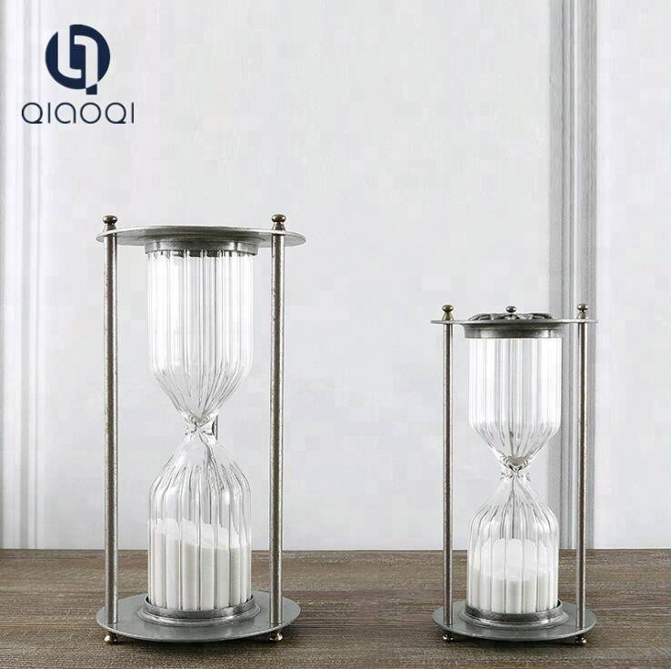 Big Custom Unique Sand Timer Hourglass with Metal Frame