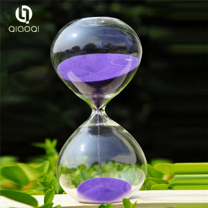 colorful Transparent glass hourglass festival gift