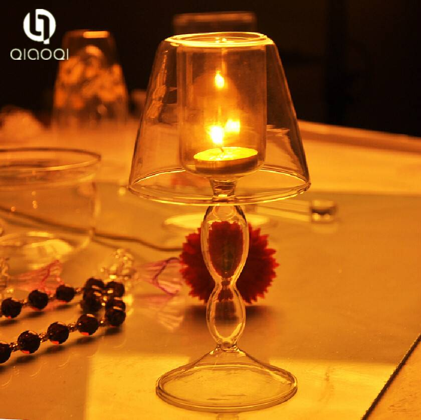 desk lamp design transparent Glass Candle Holder