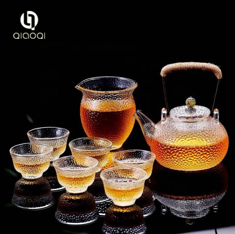 Blooming Flower Tea Set 370ml Glass Teapot / tea pot