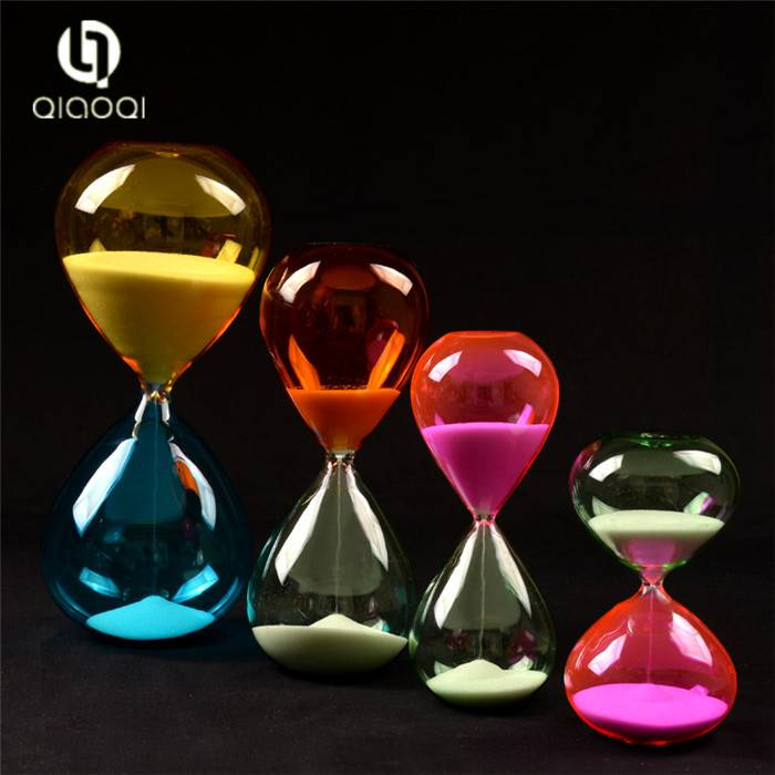 Custom Gifts Glass Blowing Large Hourglass Sand Timer 5 minute