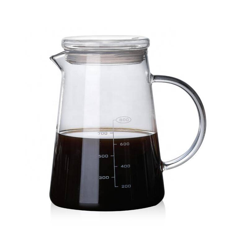 Hot sales high borosilicate heat resiseant   glass coffee pot
